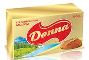 Сливочные маргарины и спреды Donna