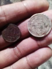 монета 10 кооп 1948 года и монета 20 кооп 1933 года